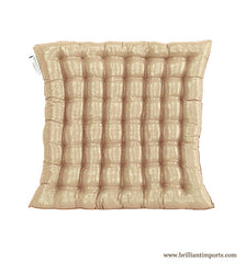 Shimmery Champagne Yoga Meditation Cushion, Thin
