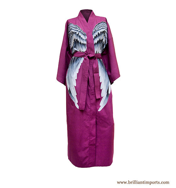 Mauve Cotton Wing Robe