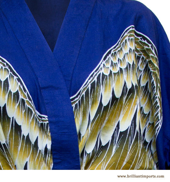 Royal Blue Cotton Wing Robe