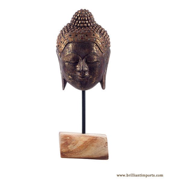 Buddha Mask on Stand