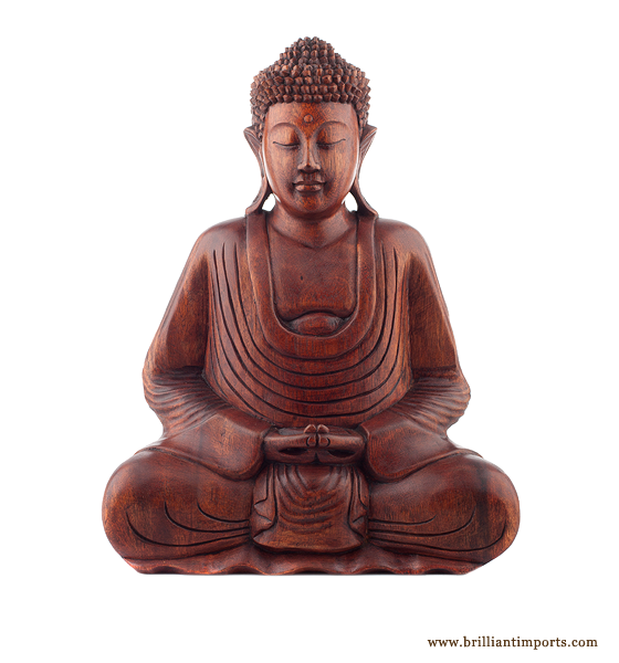 Sitting Buddha, Stained