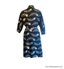 Floating Feathers Kimono Robe in Navy