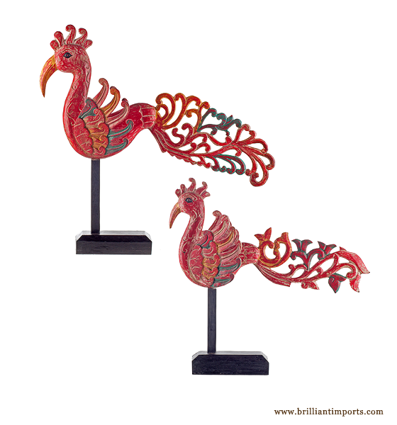 {SHIPWRECKED} Red Balinese Bird Pair