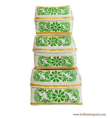 Green Bloom Basket Set