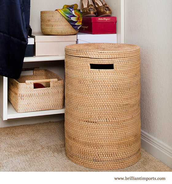 Rattan Laundry Basket with Top