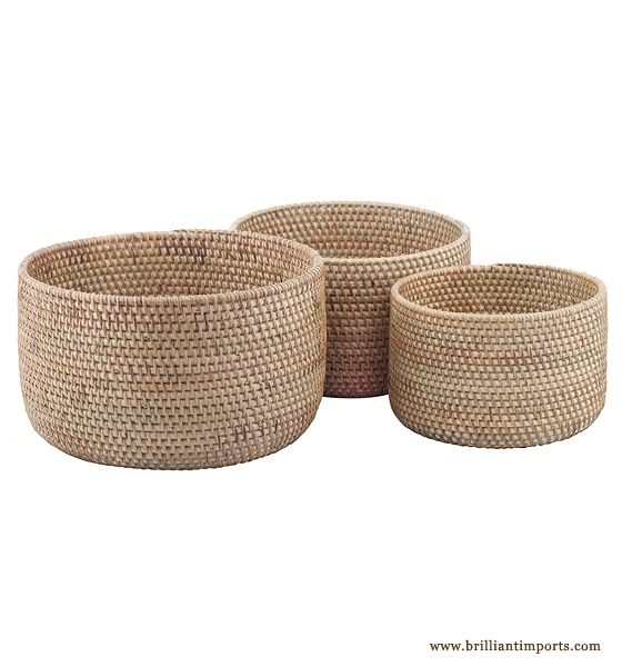 Natural Nesting Bowls, Set of 3