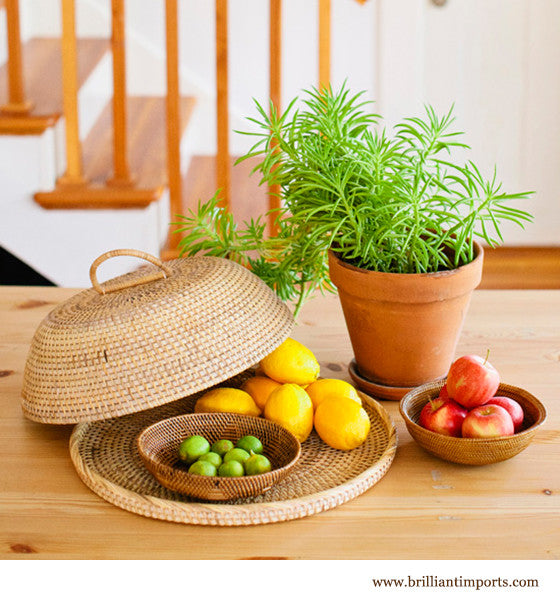 Rattan Tray with Cover