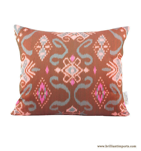 Cocoa Ikat Pillow