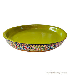 Handpainted Floral Shallow Bowl, Large