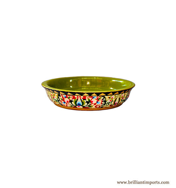 Handpainted Floral Shallow Bowl, Small