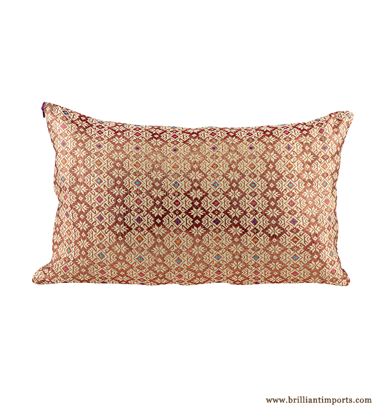 Burgundy Shine Pillow