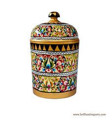 Handpainted Floral Canister