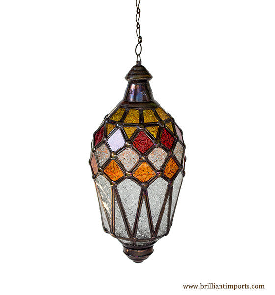 Hanging Lantern with Kaleidoscope Accents I