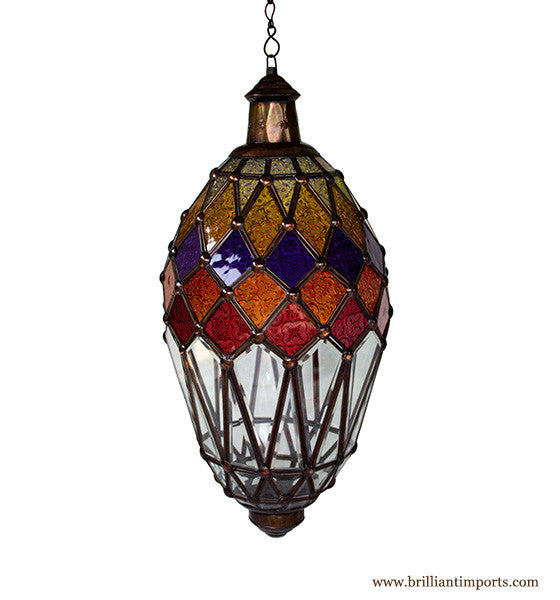 Hanging Lantern with Kaleidoscope Accents II