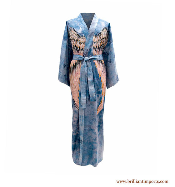Sky Cotton Wing Robe