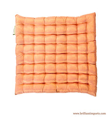 Shimmery Blush Yoga Meditation Cushion, Thin