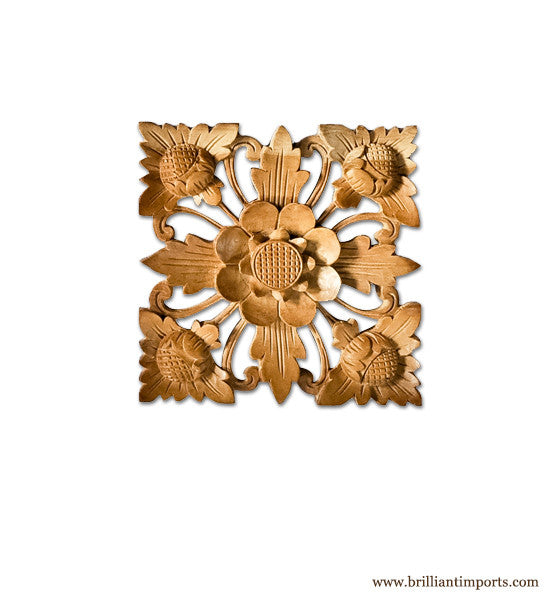 Natural Flower Wall Square, Medium