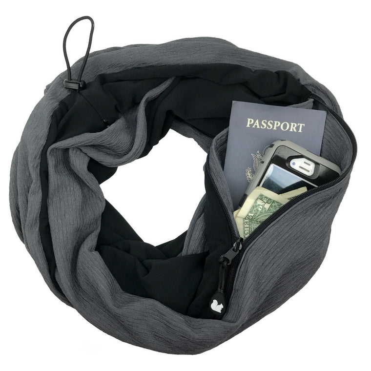 ORIGINAL Convertible Infinity Scarf with Pocket | Titanium