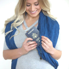 SHOLDIT Convertible Infinity Scarf with Pocket Mystic Blue Shrug