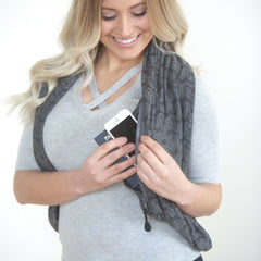 SHOLDIT Convertible Infinity Scarf with Pocket Mystic Grey Shrug