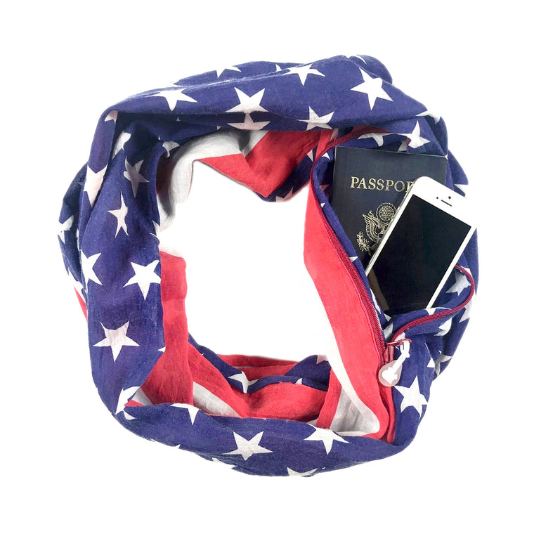 Convertible Infinity Scarf with Pocket | Americana