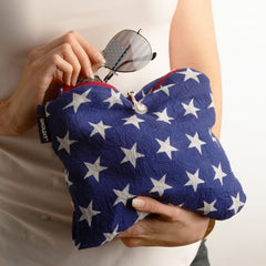 Convertible Infinity Scarf with Pocket Americana Patriotic Collection Clutch