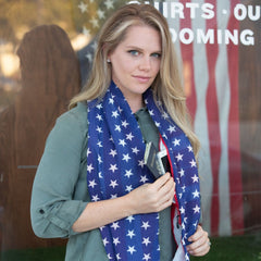 Convertible Infinity Scarf with Pocket Americana Patriotic Collection Long