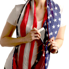 Convertible Infinity Scarf with Pocket Americana Patriotic Collection