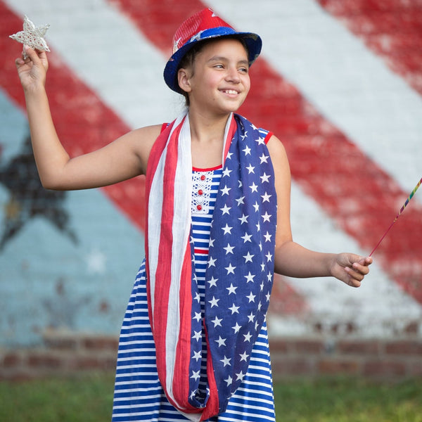 Convertible Infinity Scarf with Pocket Americana Patriotic Collection Youth