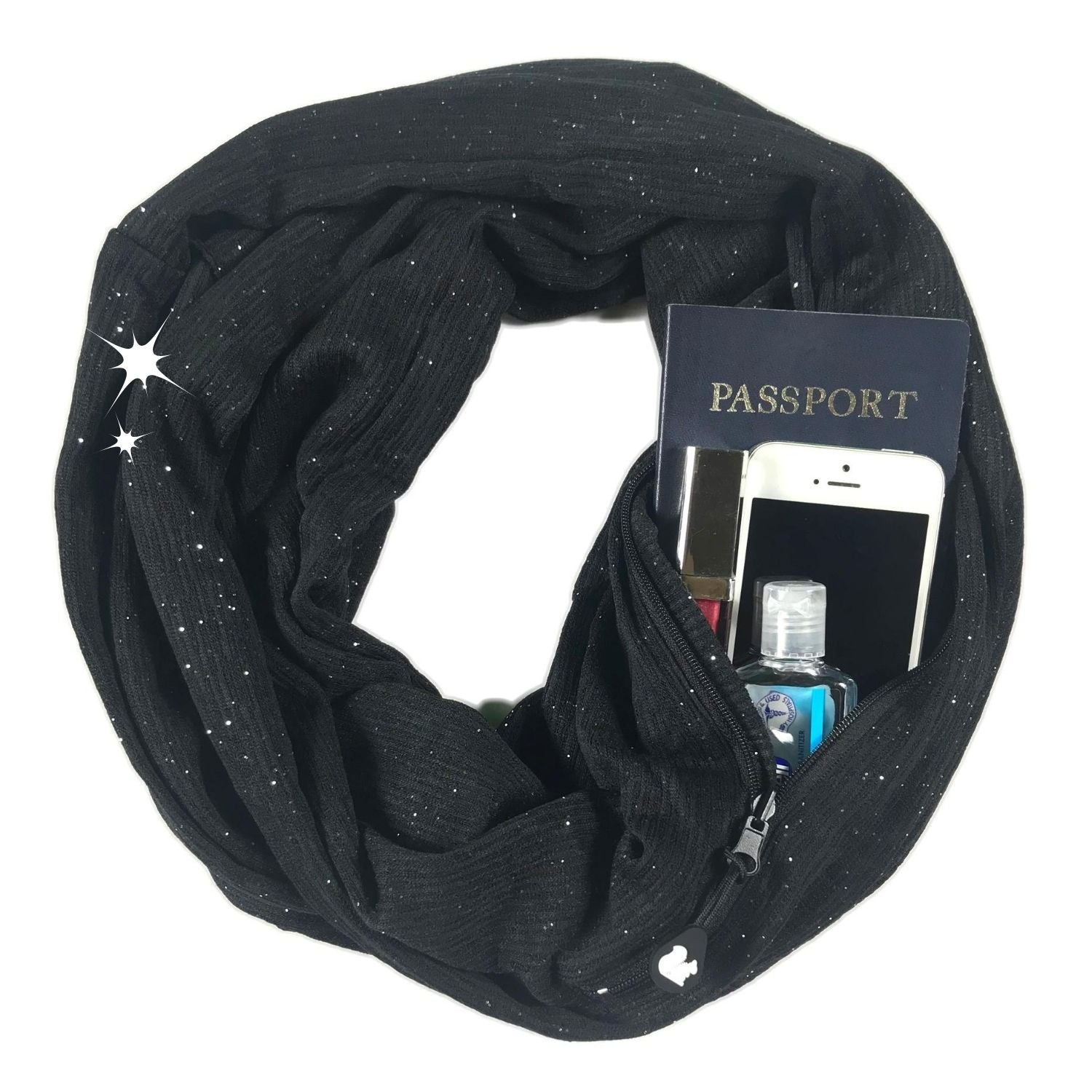 Convertible Infinity Scarf with Pocket™ | Shimmer Black