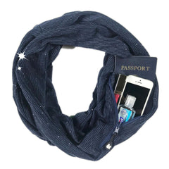 Convertible Infinity Scarf with Pocket™ | Shimmer Blue