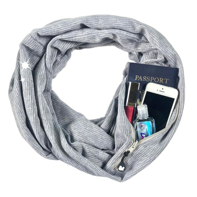 Convertible Infinity Scarf with Pocket™ | Shimmer Grey