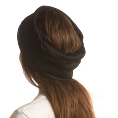 SHOLDIT Convertible Neck Gaiter with Pocket Black Headband