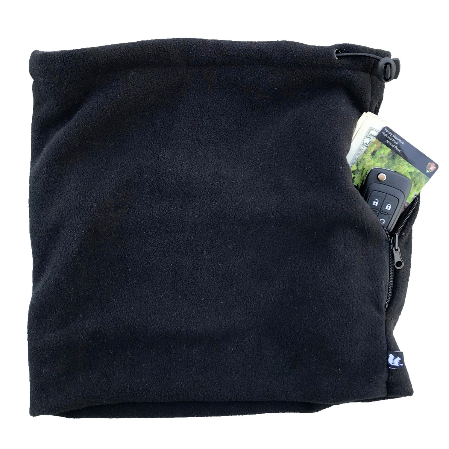 SHOLDIT Convertible Neck Gaiter with Pocket Black