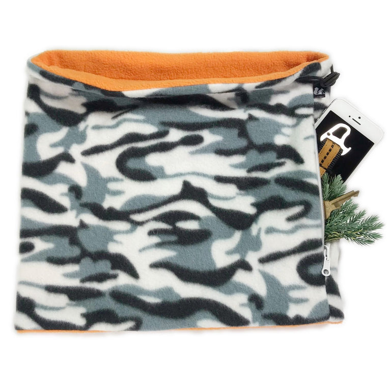 Convertible Neck Gaiter with Pocket™ | Camo Orange