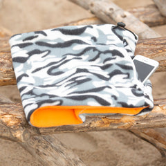 SHOLDIT Convertible Neck Gaiter with Pocket Camouflage Orange Fleece