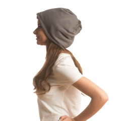 SHOLDIT Convertible Neck Gaiter with Pocket Grey Beanie Hat