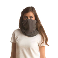 SHOLDIT Convertible Neck Gaiter with Pocket Grey Neck Warmer