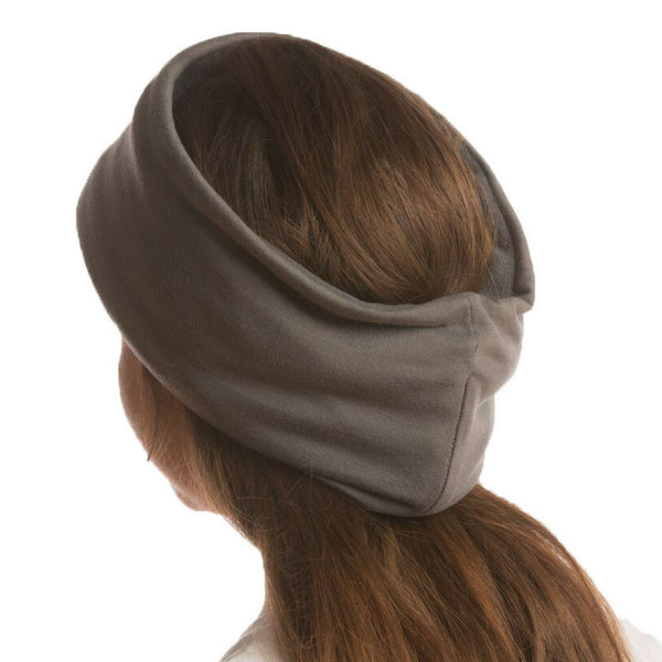 SHOLDIT Convertible Neck Gaiter with Pocket Grey Headband and Ear Warmer