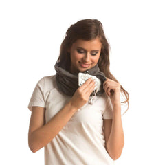 SHOLDIT Convertible Neck Gaiter with Pocket Grey with Cell Phone Accessories