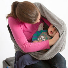 SHOLDIT® Nursing Scarf with Pocket and Breast Feeding Cover Grey