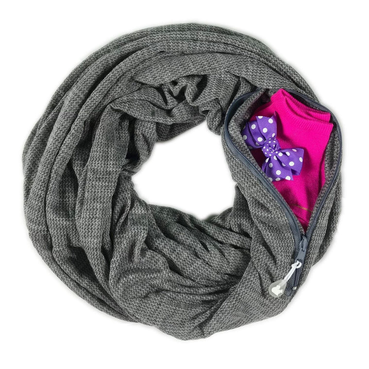 Convertible Nursing Scarf with Pocket™ | Haze Gray