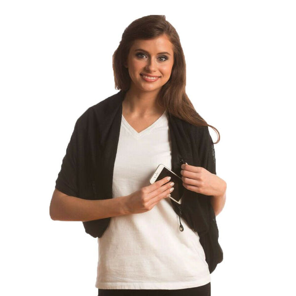 SHOLDIT® Nursing Scarf with Pocket and Breast Feeding Cover Black