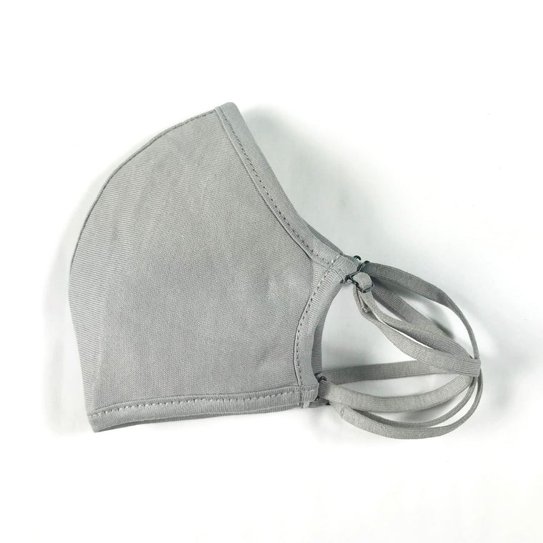 Convertible Face Mask | Slate Grey Cotton