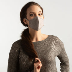 Convertible Face Mask 100% cotton slate grey unisex and youth size fashion