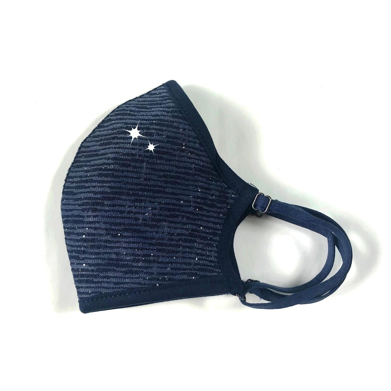 Convertible Face Mask Shimmer blue Womens