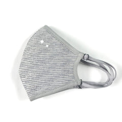 Convertible Face Mask Shimmer silver grey Womens