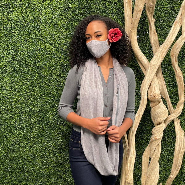Convertible Face Mask | Women's Shimmer Grey