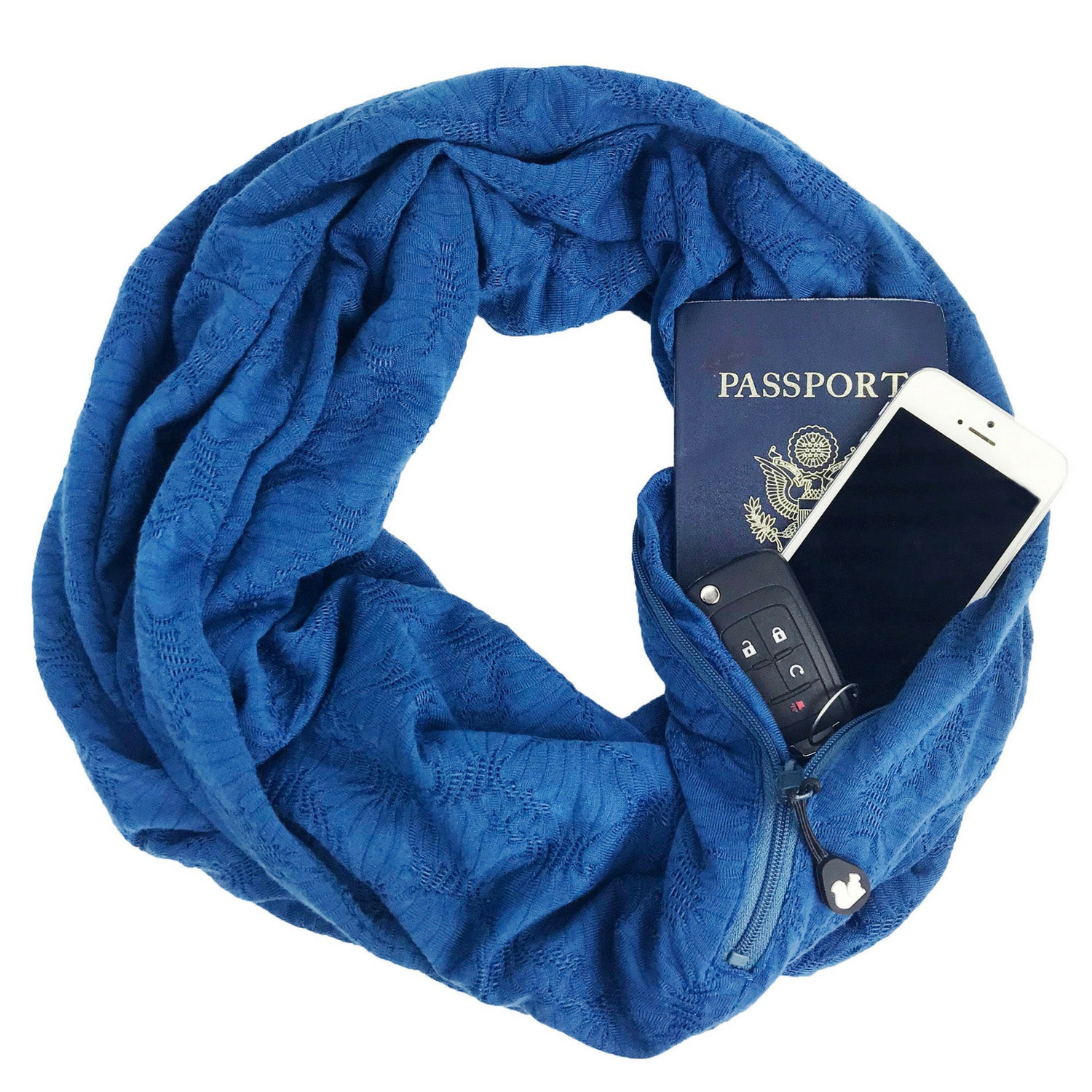 SHOLDIT Convertible Infinity Scarf with Pocket Mystic Blue