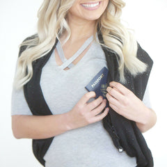 SHOLDIT Infinity Scarf with Pocket Shimmer Black Shrug